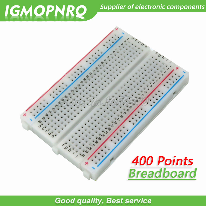 1PCS 400 Points Solderless Bread Board Breadboard PCB Test Board 400 Hole 8.5*5.5cm Combined Splicing Experimental Plate