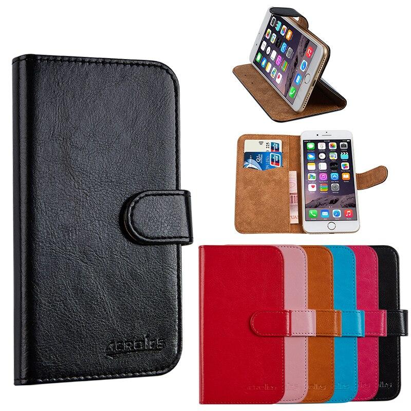 Luxusní PU kožená peněženka pro Prestigio Grace S5 LTE PSP5551 DUO obal na mobilní telefon s pouzdrem na karty stojan Vintage styl pouzdro