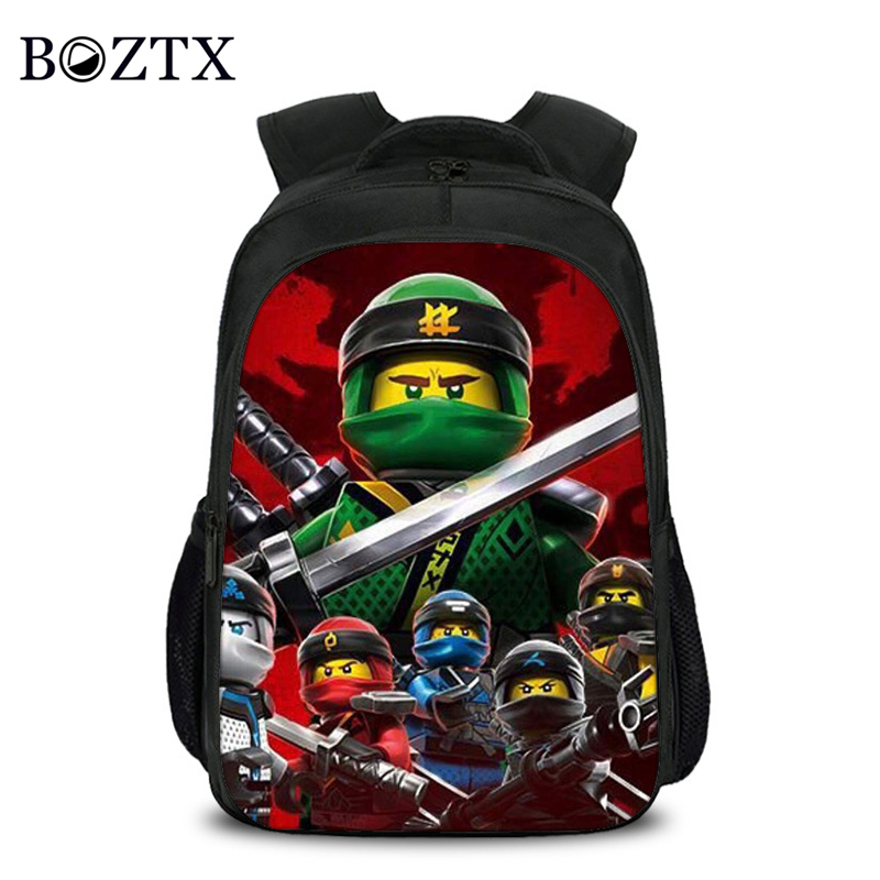 Children Fashion Cartoon Student School Backpack Lego Ninjago 3d Bag Girls Travel Bag Teenagers Boys School Bag Mochila
