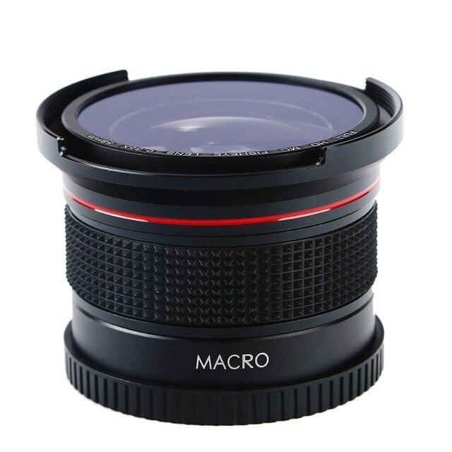 58 ММ 0.35X HD Fisheye Широкоугольный Объектив + Макро Макро Объектив для Canon EOS 600D 1200D 750D 100D 70D 5D 1100D 7D для Nikon D3200