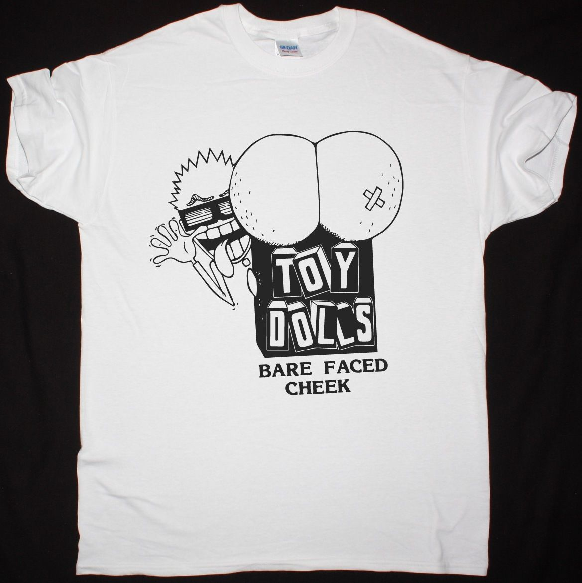 Design t shirt cheap uk - The Toy Dolls Bare Faced Cheek Punk Rock Uk Subs The Adicts New White T