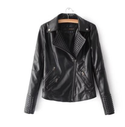 New Autumn Fashion Street Women's Short Washed PU   Leather   Jacket Zipper New Ladies Basic Jackets Good Quality lapel Coat