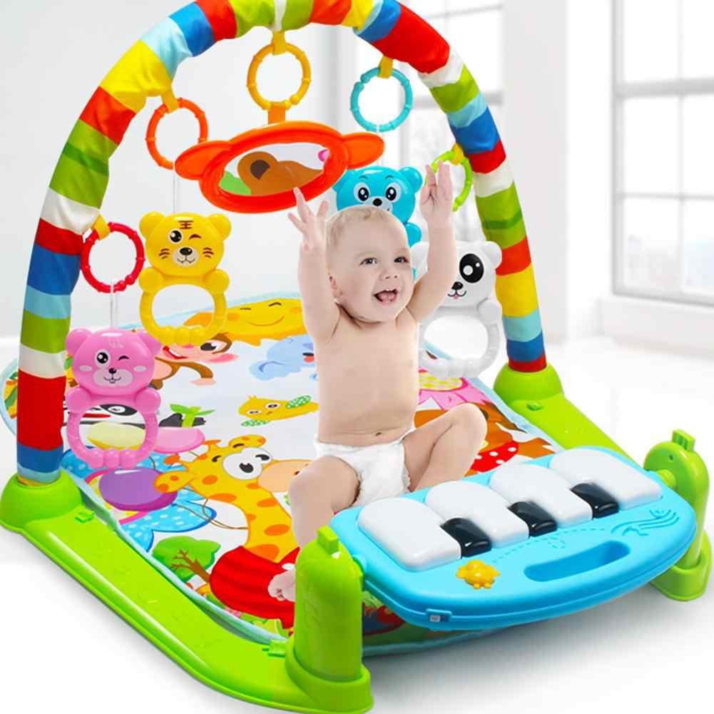 New Infant Baby Pedal Piano Play Music Mat Activity Gym Blanket Fitness Bodybuilding Frame Crawling Mat Kick Play Lay Sit Toy