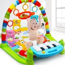New Infant Baby Pedal Piano Play Music Mat Activity Gym Blanket Fitness Bodybuilding Frame Crawling Mat Kick Play Lay Sit Toy 3 in 1 baby playmat piano musical sleep lullaby activity fitness gym mat kid sleeping safety blanket christmas gift for children