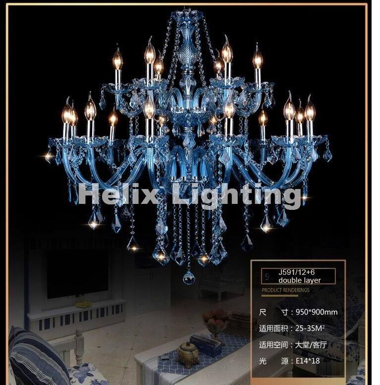 Гаряча продаж синьої кришталевої - Внутрішнє освітлення