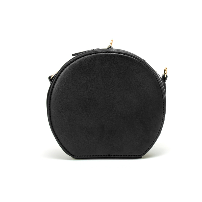 Pink Gold Small Round Bag Women Round Handbags Circular women s bags  shoulder bag wristlet Sling Bag Mini Circle Cross Body Bag-in Shoulder Bags  from ... ec3dae3c74