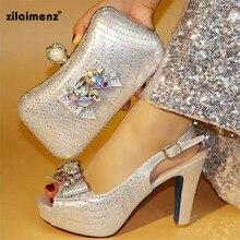5667455afc Super High Heels Italienischen Frauen Schuhe und Taschen Zu Entsprechen Set  Afrikanische Schuhe und Passende Tasche