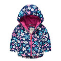 New Autumn Winter Children outerwear brand cartoon coat girls jackets fleece lining windbreaker waterproof hoodies baby jackets