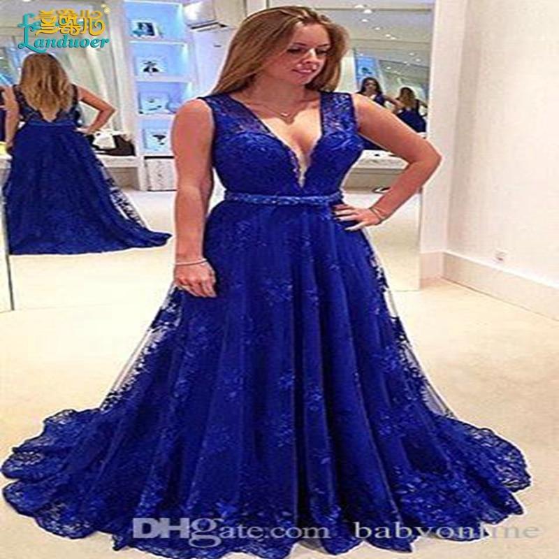 Hermosa Traje De Baile De Graduación Azul Imágenes - Vestido de ...