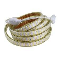 Супер сильный светильник, двухрядный светодиодный светильник 180 s/m SMD 2835, светодиодный светильник IP67, водонепроницаемый, 220 В, 1 м, 2 м, 3 м, 5 м, 10 м, Диодная лента IL