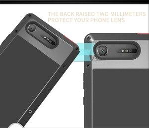 Image 4 - עבור Sony Xperia XZ1 Case אהבת מיי עפר הלם הוכחת מים עמיד מתכת שריון כיסוי טלפון עבור Sony Xperia XZ1 קומפקטי