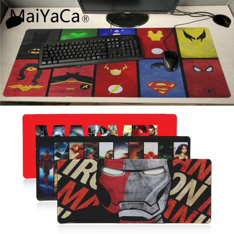 MaiYaCa High Quality Marvel Comics High Speed New Mousepad Large Gaming Mouse Pad Anti-slip Perfect Locking PC Computer Desk Mat