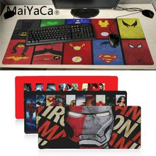 MaiYaCa High Quality Marvel Comics Speed New Mousepad Large Gaming Mouse Pad Anti-slip Perfect Locking PC Computer desk mat