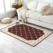 European Fashion floral Anti-skid Jacquard Carpet for Living room Dining Bedroom Mat Rug deurmat door mats outdoor kitchen mat
