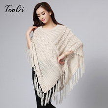 2015 New Fashion Fall Winter O Neck Soft Rabbit Fur Knitted Poncho Shawl Women Wool And Fur Tassel Cape Coat