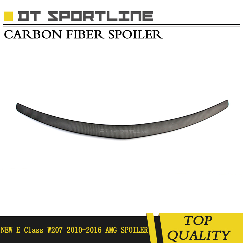 Real Carbon Fiber Spoiler Fits 2010 2011 2012 2013 2014 2015 year Rear Truck Wing Decoration For mercedes E Class W207 Amg Style|Spoilers & Wings| |  - title=
