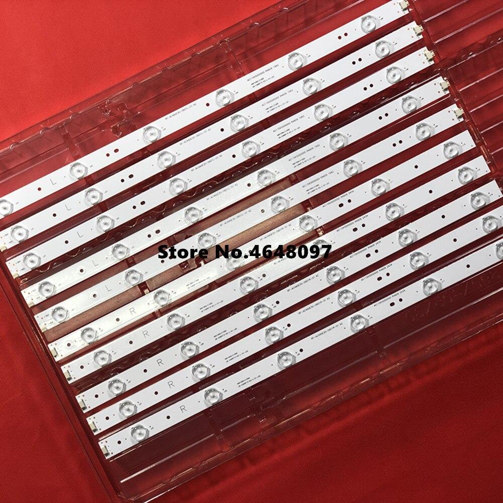 (neue Kit) 10 Pcs Led-hintergrundbeleuchtung Streifen Für 49d1000 49c1000 850095046 Lb-c490f13-e2-l-g1-se2 Lb-c490f13-e2-l-g1-se3 Svj490a06 A09 Exquisite Handwerkskunst;