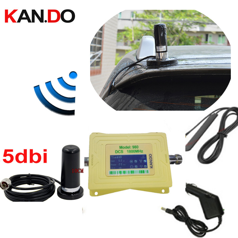 Big Magnet Base Anenna 60dbi DCS 1800mhz Mobile Phone Signal Booster 2G 4g Network Signal Repeater For Car 4g Lte Amplifier