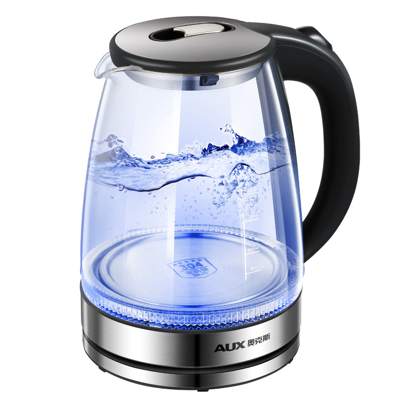 Aux 1.7L Glass Electric Kettle 1500W Fast Blue Boiling 304 Stainless Steel Temperature Control Induction kettle thermostat temperature control switch electric kettle accessory replaceme