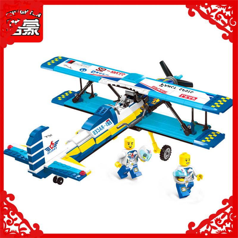 ENLIGHTEN 1125 City Series Wings Show Aircraft Building Block 354Pcs DIY Educational  Toys For Children Compatible Legoe loz mini diamond block world famous architecture financial center swfc shangha china city nanoblock model brick educational toys