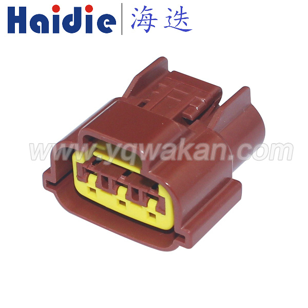 Free shipping 5sets Sumitomo 3Pin Sensor TPS Connector 6098-0142 Wire Connector Fits Renault Nissan brown color connector