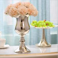 Free shipping Europe sliver plated vases as wedding decoration vase floor vases for wedding decoration flower vases for weddings