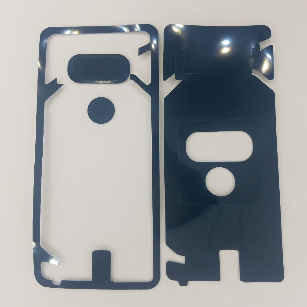 For LG G6 G7 V30 Phone Housing Door Camera Pre-Cut Adhesive Back Glass Cover Panel Sticker Glue