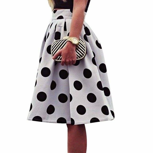 Sleeper #401 2019 NEW FASHION Women Bodycon Polka Dot Umbrella Skirt Retro Puff Skirts casual wear summer charm Free Shipping 1