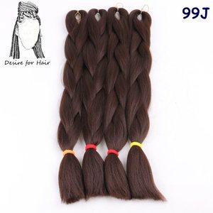 Image 2 - רצון עבור שיער 5 חבילות 24 inch 80 גרם 90 צבעים תוספות שיער קולעת ג מבו הסינתטי עמיד בחום עבור קטן צמות טוויסט ביצוע