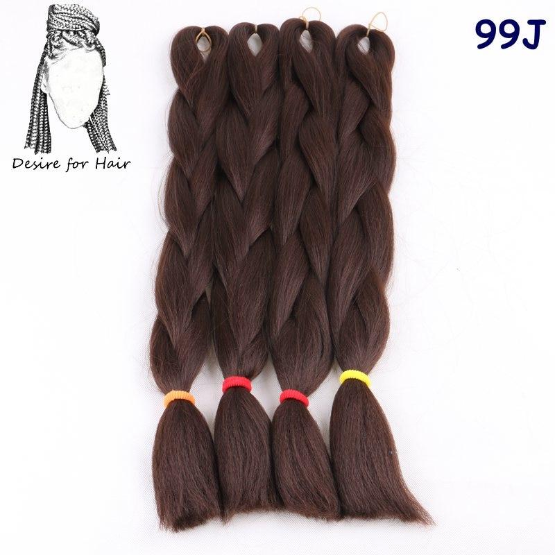 Önskning för hår 5packs 24inch 80g 90colors värmebeständig - Syntetiskt hår - Foto 2