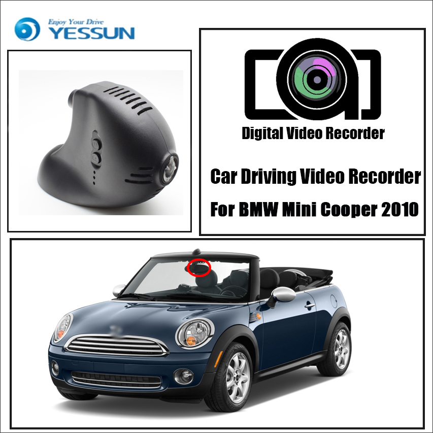 For BMW Mini Cooper 2010 2011 2012 2013 Driving Recorder Car wifi DVR Car Dash Cam Front camera Keep Video Recorder bigbigroad for volvo xc60 high configured 2009 2010 2011 2012 2013 2014 2015 2016 2017 car video recorder wifi dvr dash cam