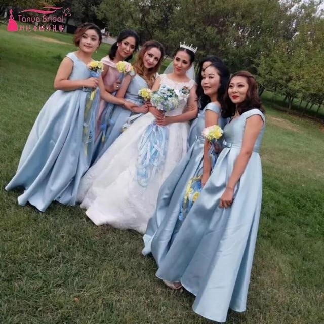 A B C D E F Bridesmaid Dresses 2018 Cheap Price Gray Pink Simple ...