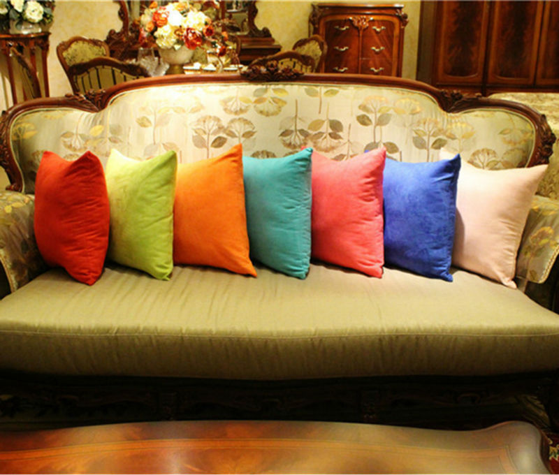 Hot Fashion Pillowcase Custom Suede Pure Color Throw Pillow Decor For Sofa Car Cushioncover Whole 40 45 50 60 70cm In Cushion From Home Garden On