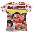 Verano Lovely Bobs hamburguesas Print t camisa 3d 3d Harajuku hombres / mujeres t-shirt Cartoon Jumper camisetas más el tamaño S-XXL de la gota