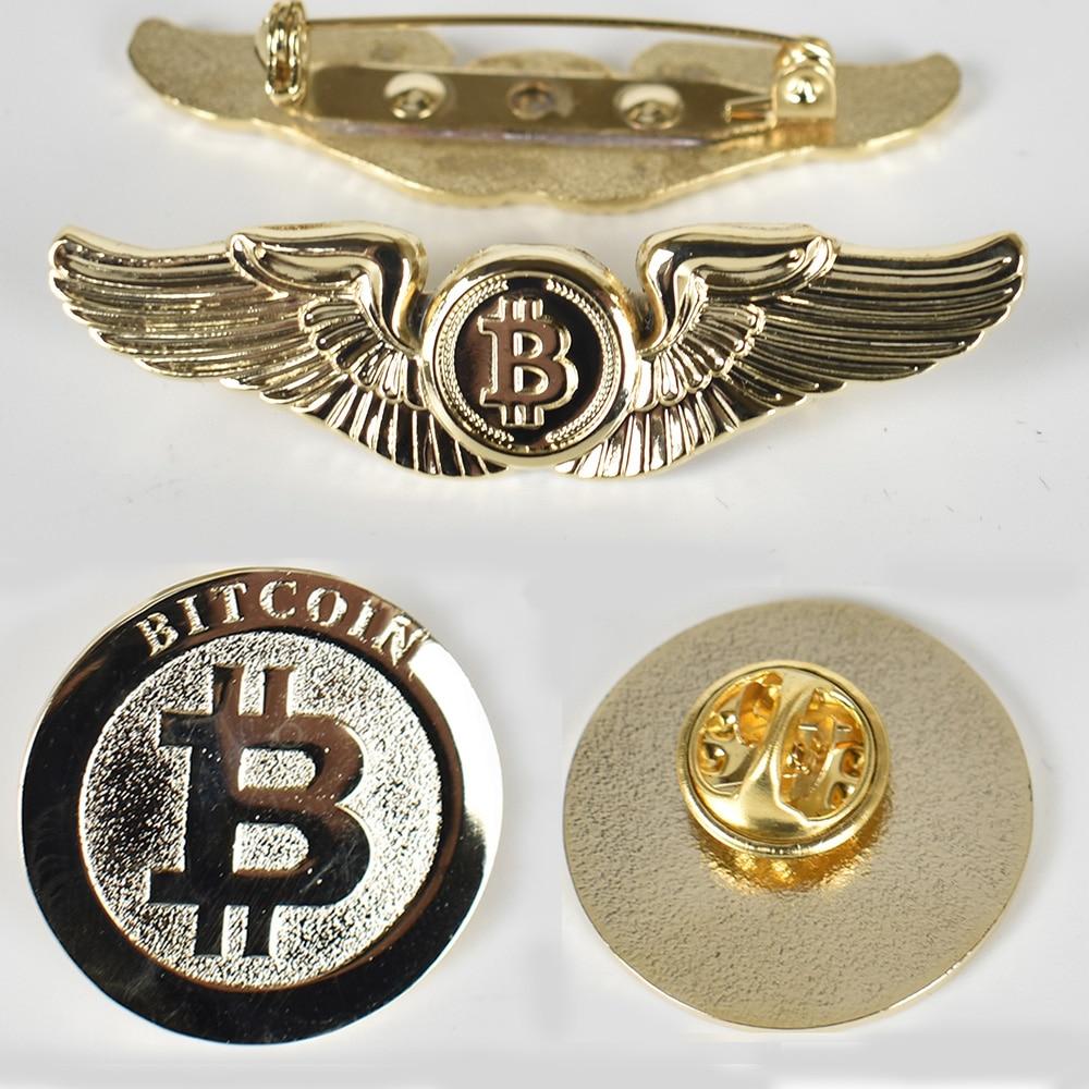 Gold Bitcoin Badge 1