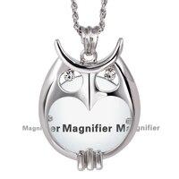 New arrival Đẹp Thời Trang OWL Tinh Thể Vòng Cổ Reading Glass Pendant Nữ Necklaces Magnifying Mặt Dây Chuyền Thủy Tinh Miễn Phí vận chuyển