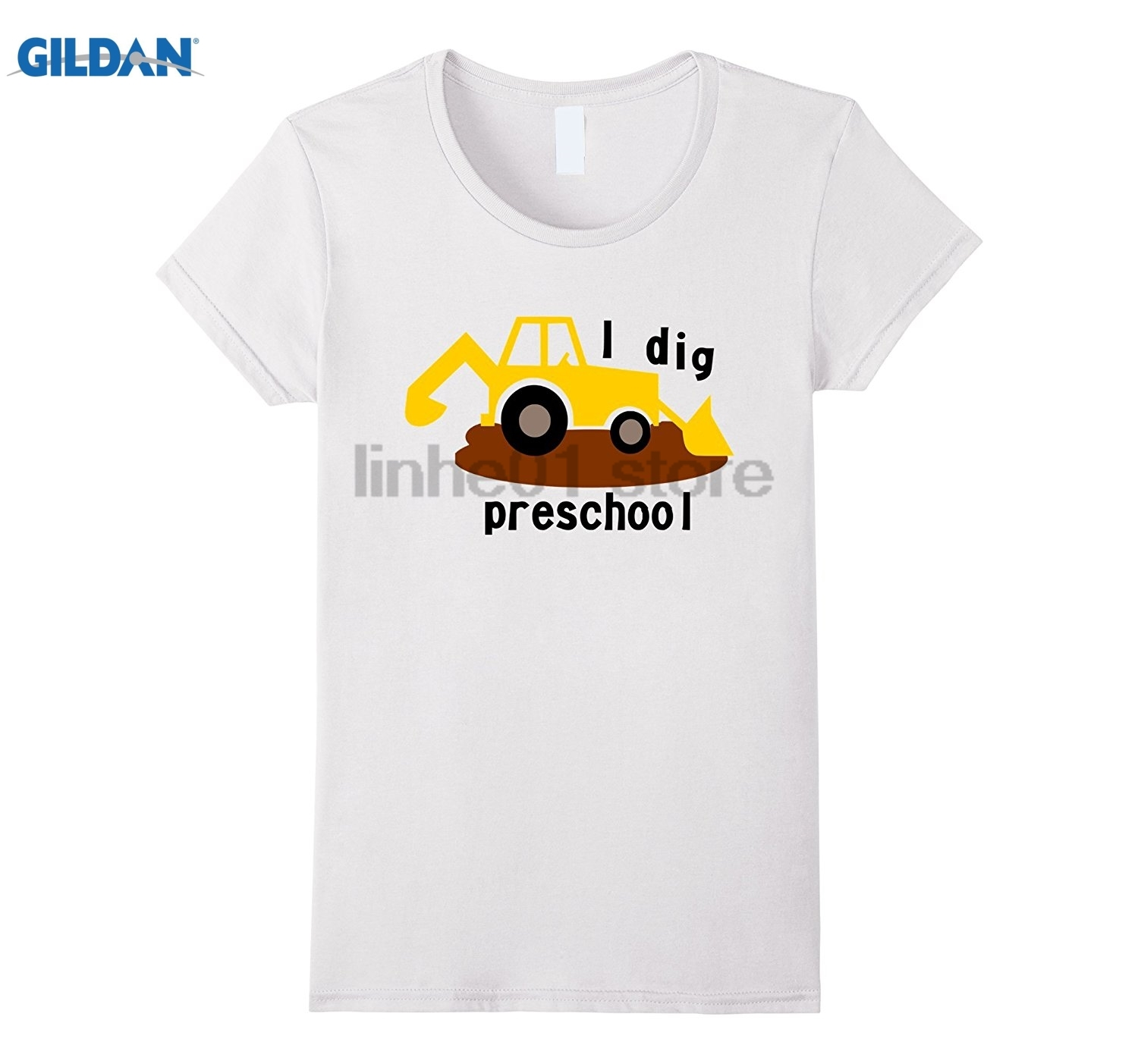GILDAN I Dig Preschool T-shirt Mothers Day Ms. T-shirt Hot Womens T-shirt