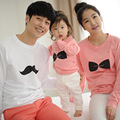 2017 Family Matching Shirts Matching Mother Daughter Clothes Cotton Bows Printing For Father Son Full-Sleeve Fashion Shirts
