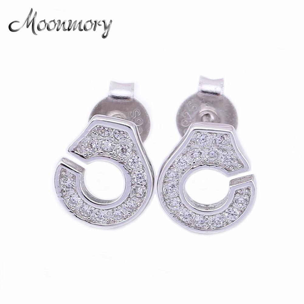 2016 Frankrijk Beroemde sieraden Authentieke 925 Sterling zilveren handboei oorbellen voor vrouwen Europese populaire sieraden