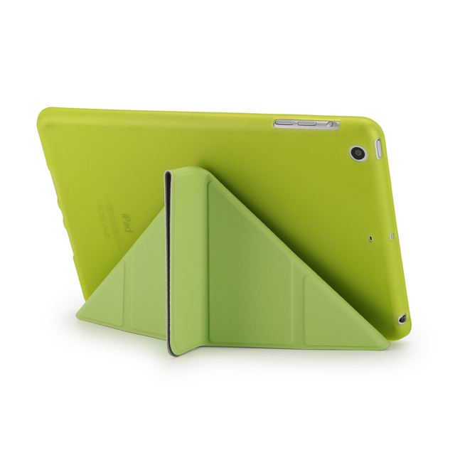 For Ipad 2 3 4 4 Shapes Stand Smart TPU Soft Case PU Leather Flip Back Cover For Apple iPad Mini 1 2 3 Retina Auto Sleep/Wake up