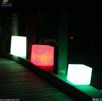 D20cm Led Cube Stool Bar Chair For Party Decorations White Wedding Free Shipping 20pcs