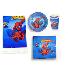 61pcs/lot Spiderman Theme Napkins Kids Favors Events Tableware Decoration Tablecloth Birthday Party Cups Plates Baby Shower Set