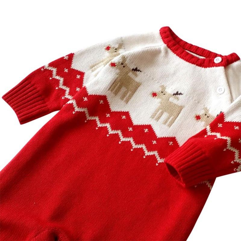 6e3eb1b13 Autumn Winter Newborn Baby Boys Girl Romper Christmas Clothes ...