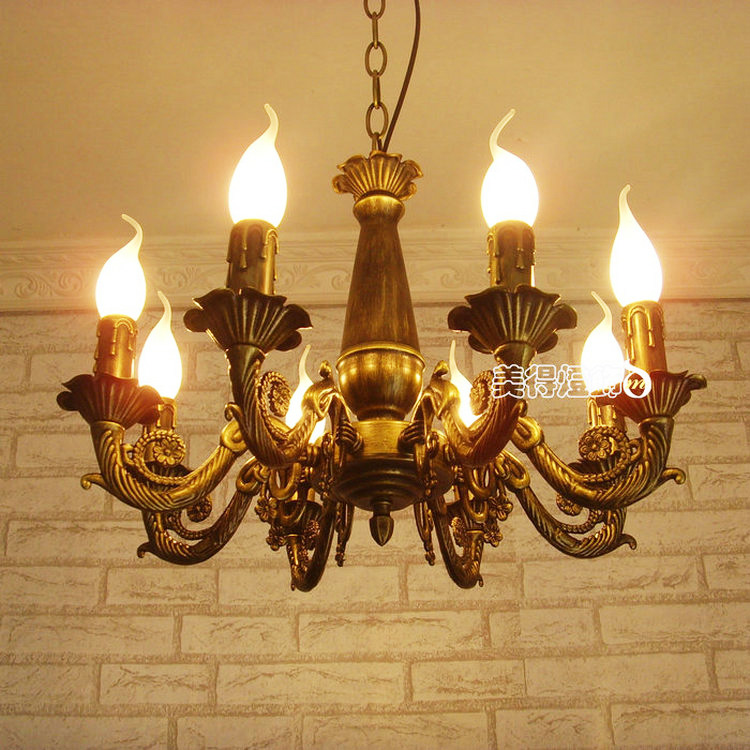купить Modern Iron Brass Color Lighting Chandelier Light Antique decoration Lamp Iron Chandelier for Ceiling Chandeliers недорого