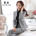 Han Ni autumn and winter 2015 women's wear long-sleeved suit OL lady dress suit overalls tooling Beauty Salons