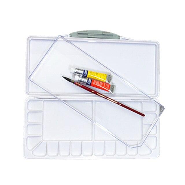 Paleta de pintura de acuarela humectante Superior paleta de Arte de acuarela de plástico profesional suministros paleta acuarela