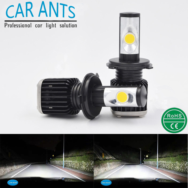 Car Ants LED Headlight B-series H1 H3 H7 H8 H9 H10 H11 H16 9005 9006 9012 5202 12-24V Canbus Automotive lamp white 2pcs Bulbs