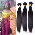 Indian Virgin Hair Straight 3 Bundles Unprocessed Virgin Human Hair Indian Straight Virgin Hair  Indian Remy Hair Weave Bundle