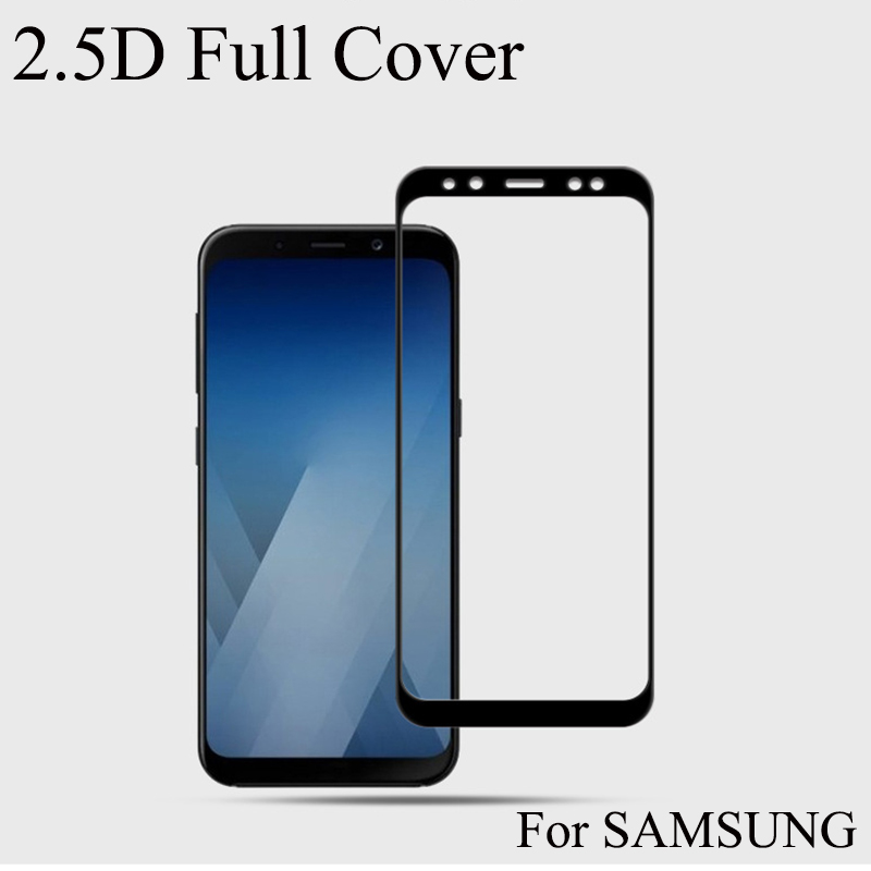 A8 2018 Glass Full Cover For SAMSUNG A8 2018 Tempered Glass Screen Protector For <font><b>A82018</b></font> image
