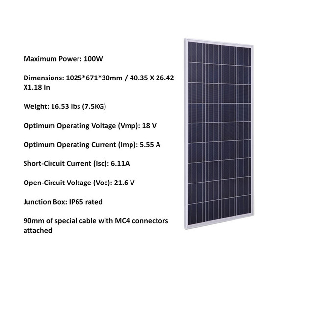 600W Off Grid Complete Solar Panel Systems with 6pcs 100w polycrystalline solar panel, 60A MPPT Solar charge controller 4